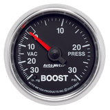 GAUGE, VAC/BOOST, 2 1/16in, 30INHG-30PSI, MECHANICAL, GS
