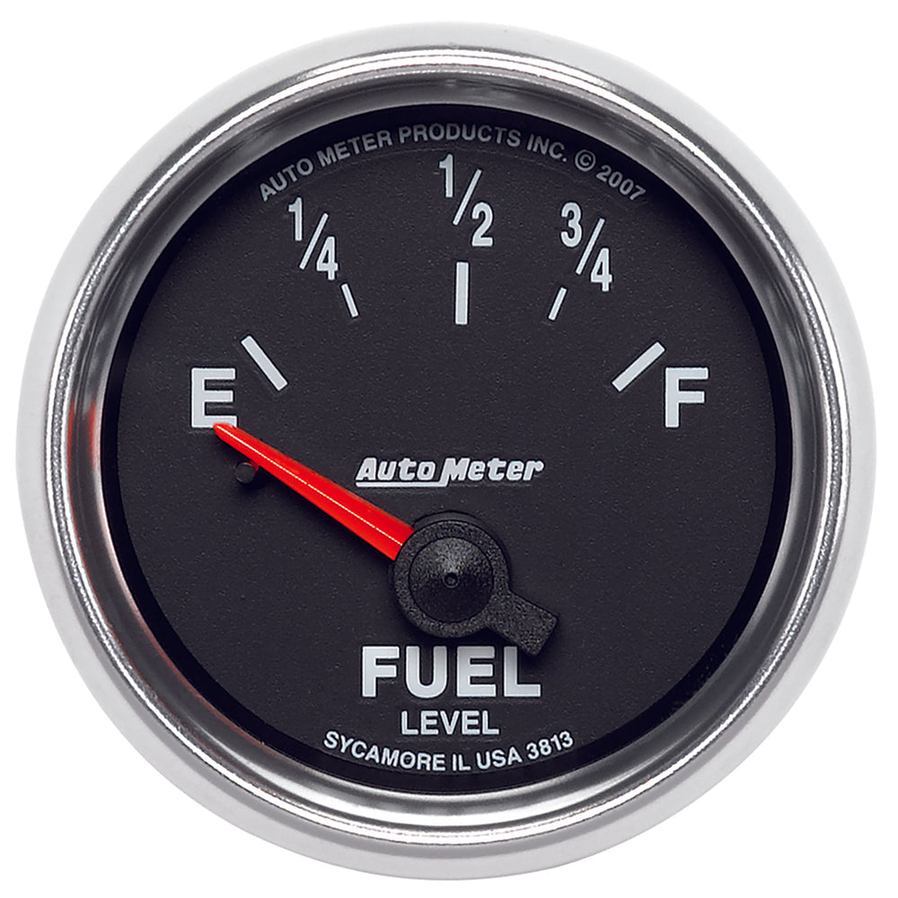 GAUGE, FUEL LEVEL, 2 1/16in, 0OE TO 90OF, ELEC, GS
