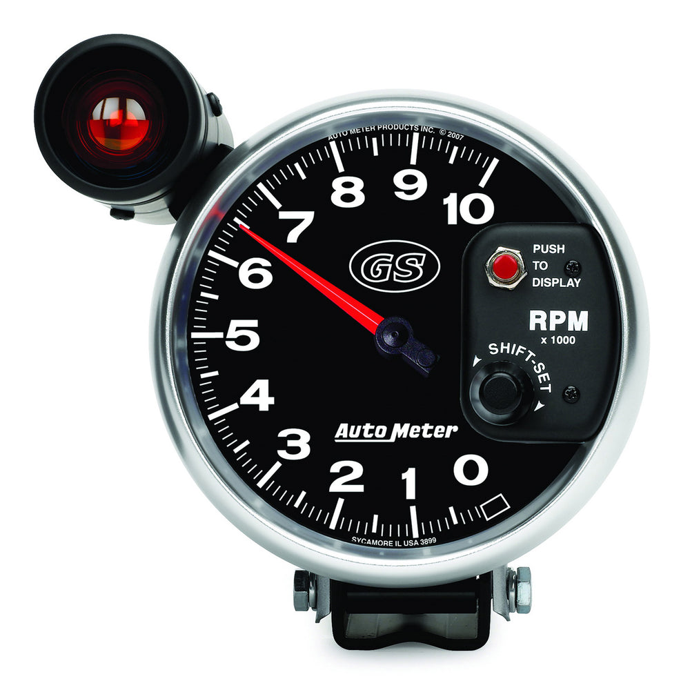 GAUGE, TACHOMETER, 5in, 10K RPM, PEDESTAL W/ EXT. SHIFT-LITE, GS
