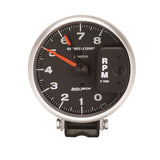 GAUGE, TACHOMETER, 5in, 8K RPM, PEDESTAL W/ RED LINE, SPORT-COMP
