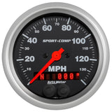 GAUGE, SPEEDOMETER, 3 3/8in, 140MPH, GPS, SPORT-COMP
