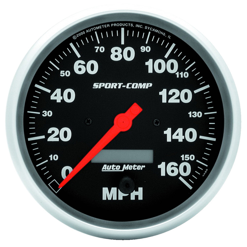 GAUGE, SPEEDO, 5in, 160MPH, ELEC. PROGRAM W/ LCD ODO, SPORT-COMP