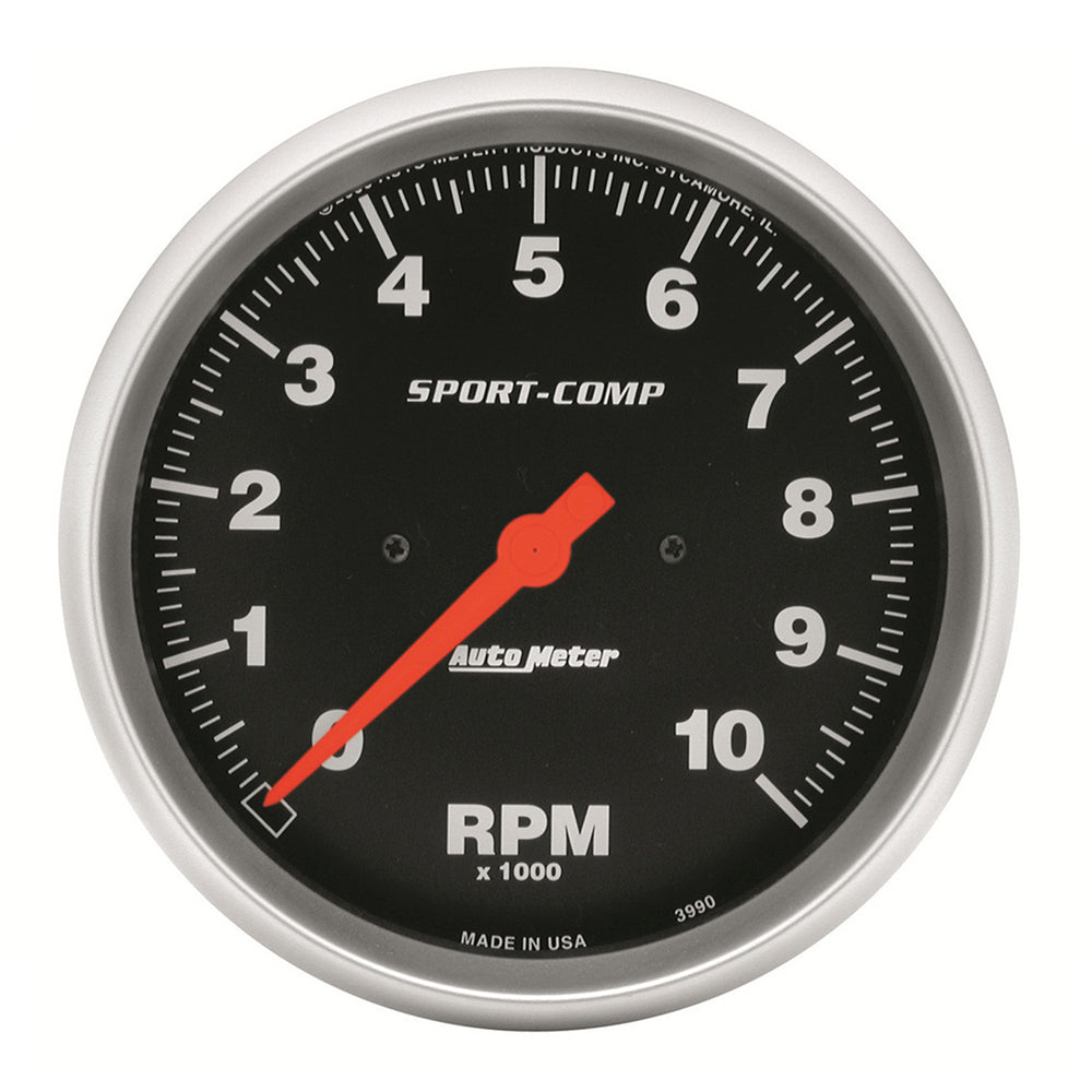 GAUGE, TACHOMETER, 5in, 10K RPM, IN-DASH, SPORT-COMP