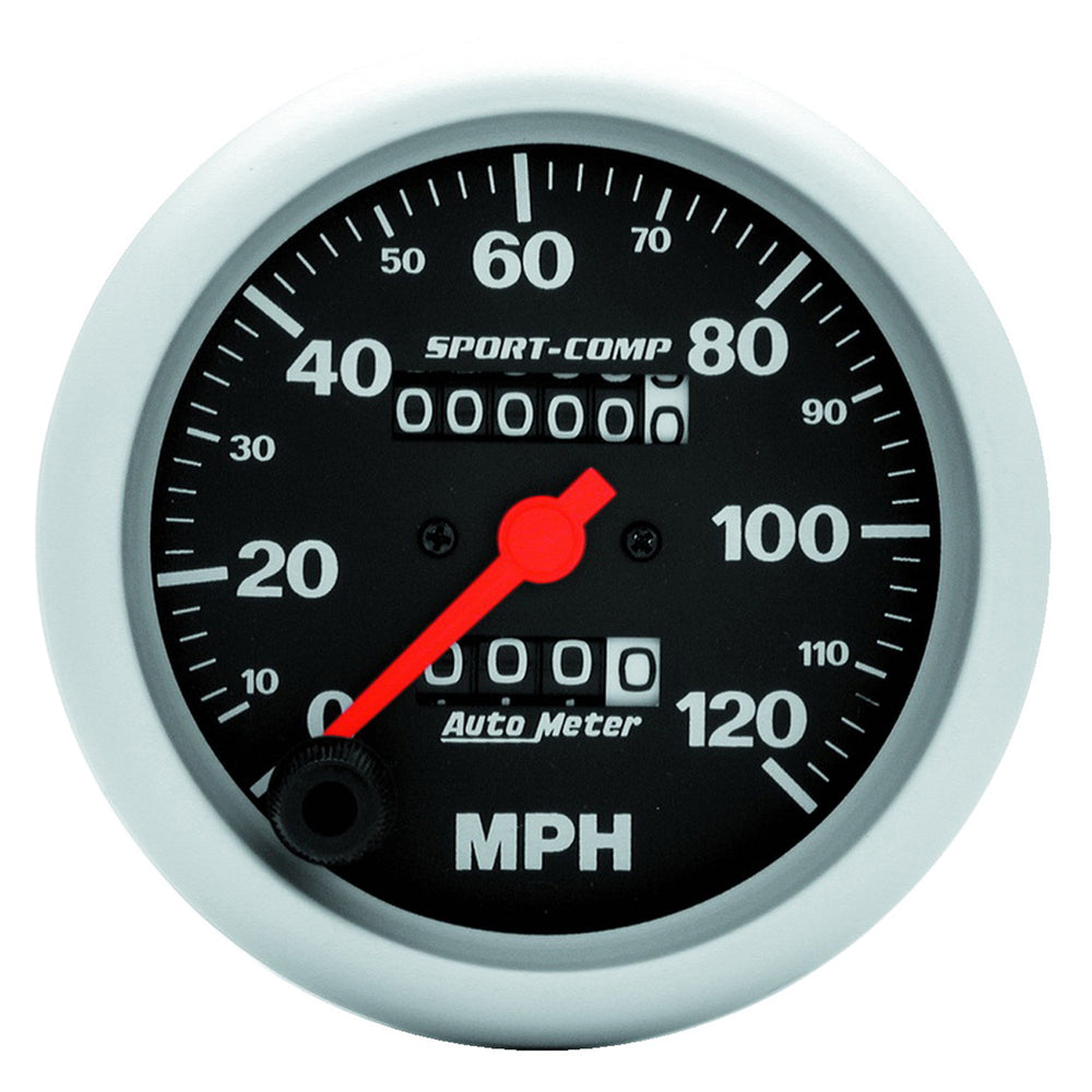 GAUGE, SPEEDOMETER, 3 3/8in, 120MPH, MECHANICAL, SPORT-COMP