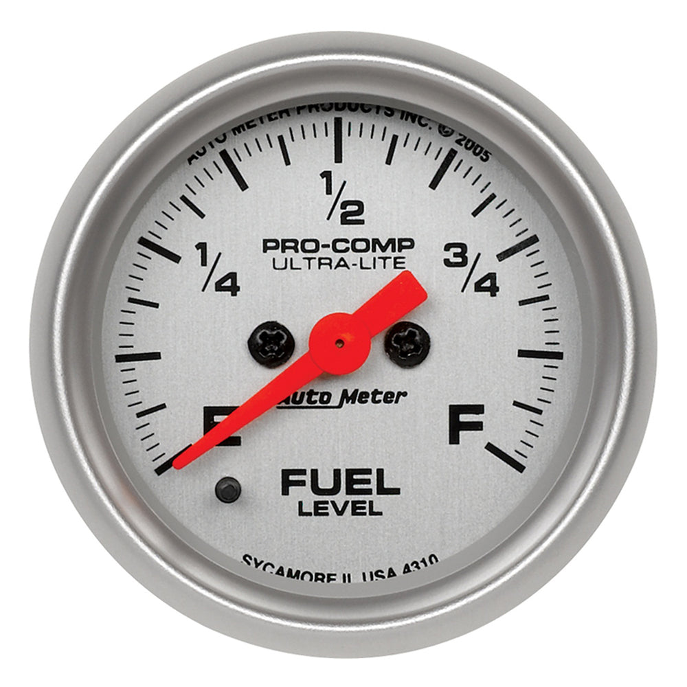 GAUGE, FUEL LEVEL, 2 1/16in, 0-280O PROGRAMMABLE, ULTRA-LITE