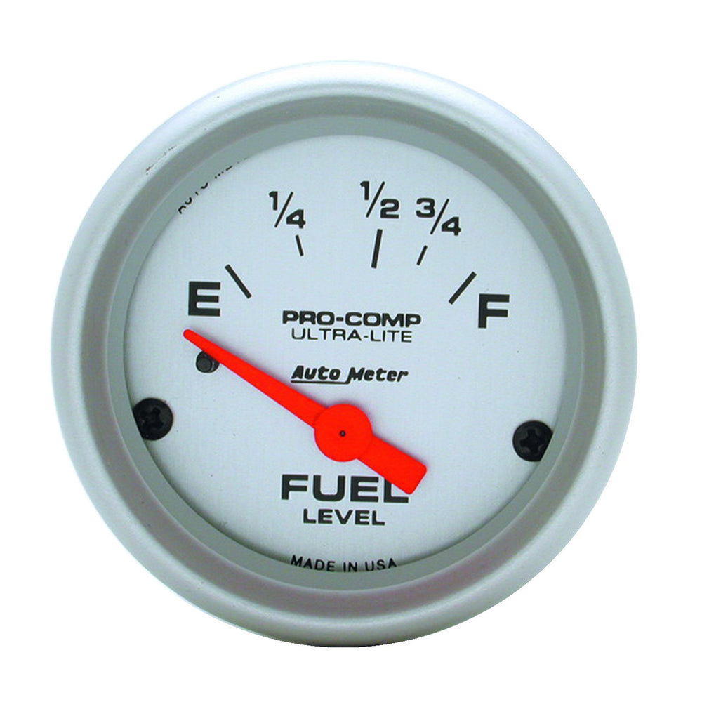 GAUGE, FUEL LEVEL, 2 1/16in, 16OE TO 158OF, ELEC, ULTRA-LITE