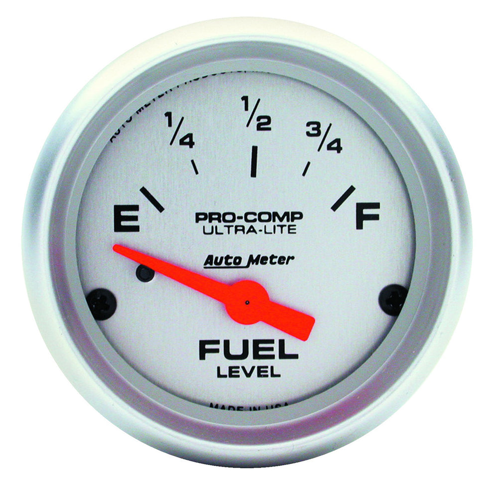 GAUGE, FUEL LEVEL, 2 1/16in, 73OE TO 10OF(AFTERMARKET LINEAR), ELEC, ULTRA-LITE