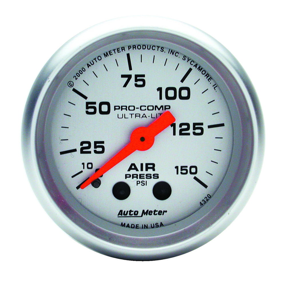 GAUGE, AIR PRESS, 2 1/16in, 150PSI, MECHANICAL, ULTRA-LITE