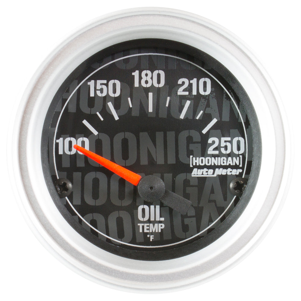 GAUGE, OIL TEMP, 2 1/16in, 100-250?F, ELECTRIC, HOONIGAN