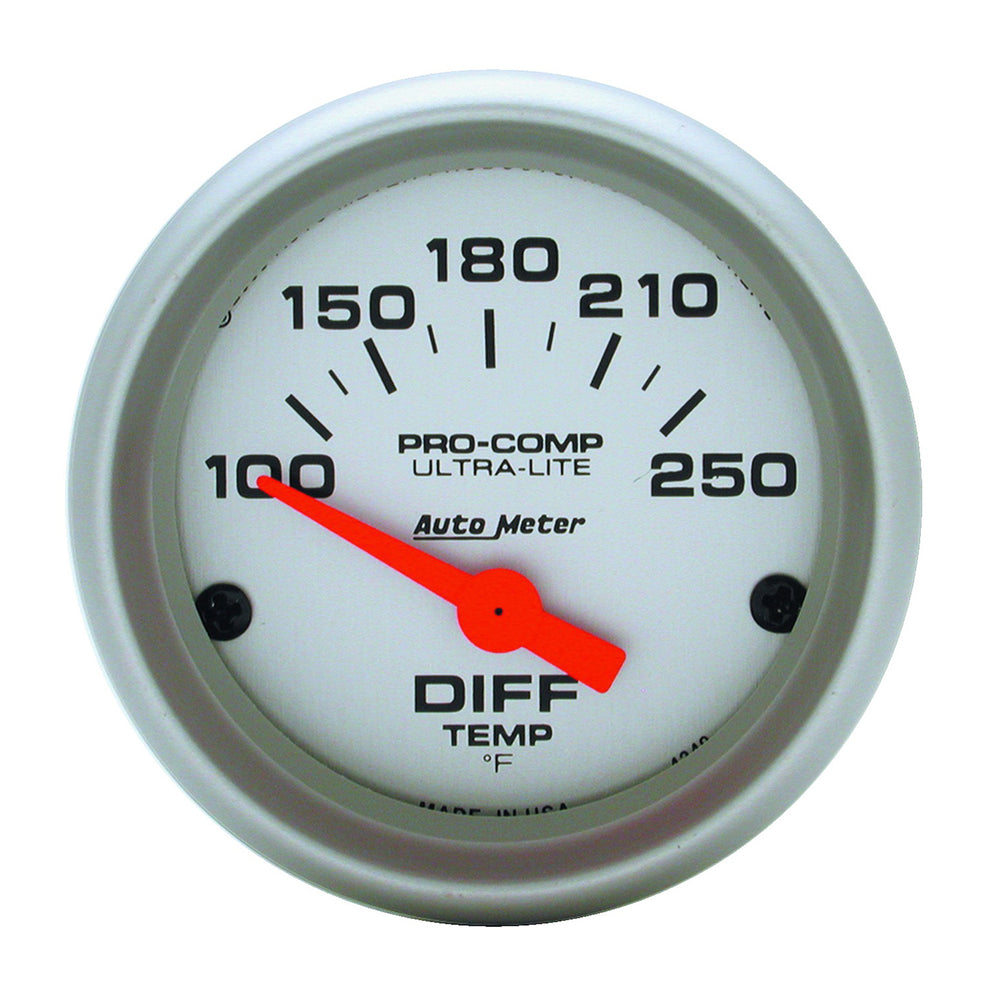 GAUGE, DIFFERENTIAL TEMP, 2 1/16in, 100-250?F, ELECTRIC, ULTRA-LITE