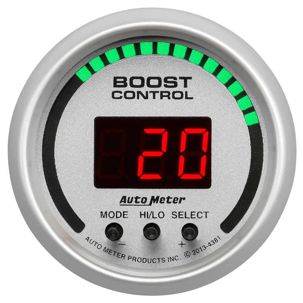 GAUGE, BOOST CONTROLLER, 2 1/16in, 30INHG-30PSI, INCL. SOLENOID, DIGITAL, UL