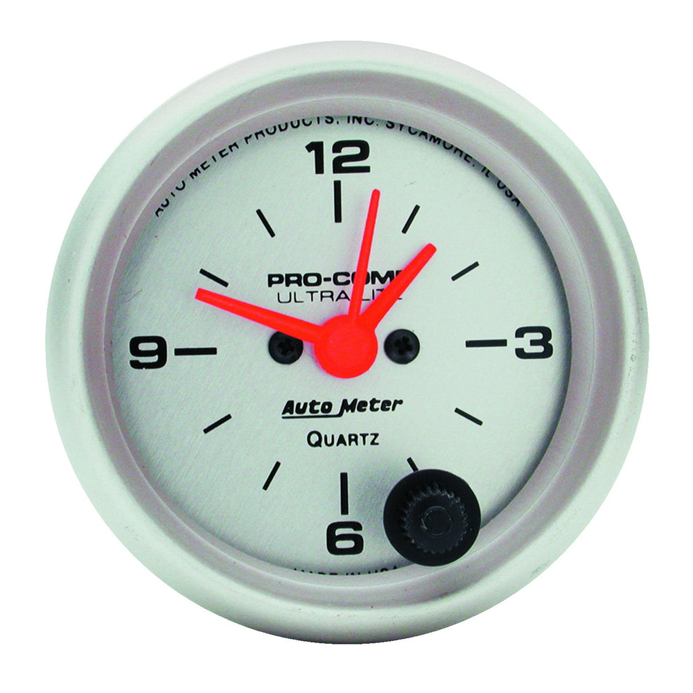 GAUGE, CLOCK, 2 1/16in, 12HR, ANALOG, ULTRA-LITE