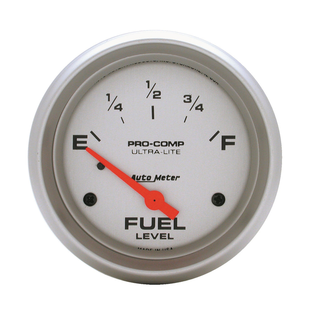 GAUGE, FUEL LEVEL, 2 5/8in, 0OE TO 30OF, ELEC, ULTRA-LITE