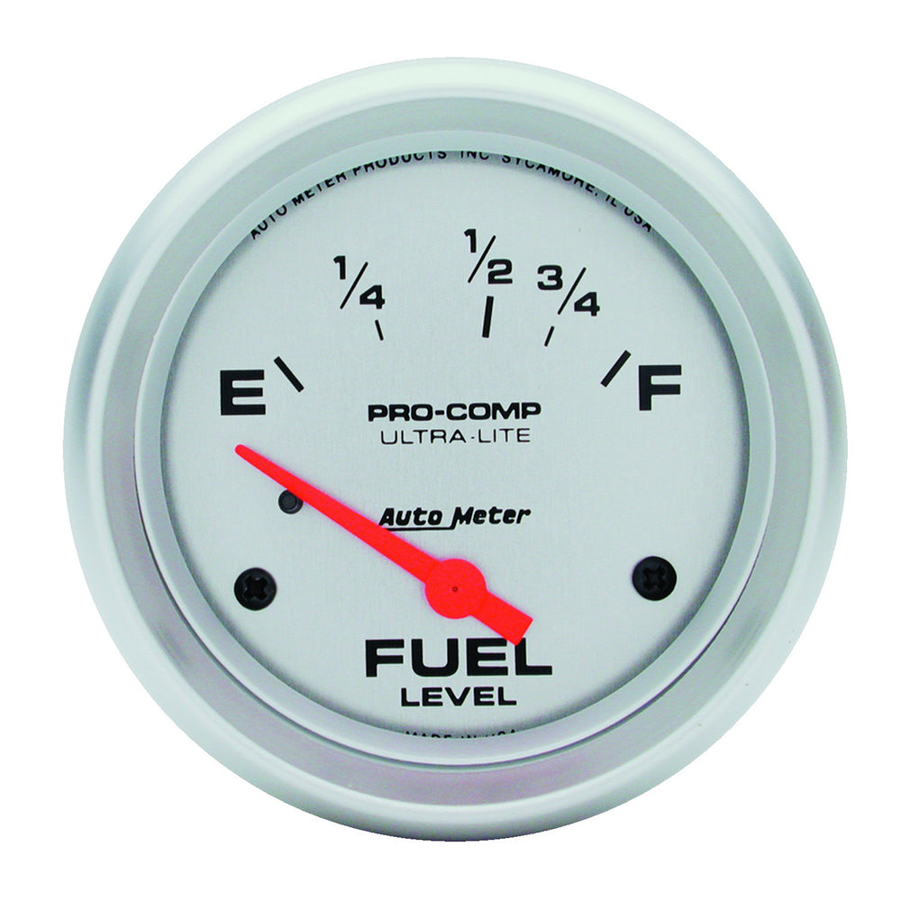 GAUGE, FUEL LEVEL, 2 5/8in, 16OE TO 158OF, ELEC, ULTRA-LITE