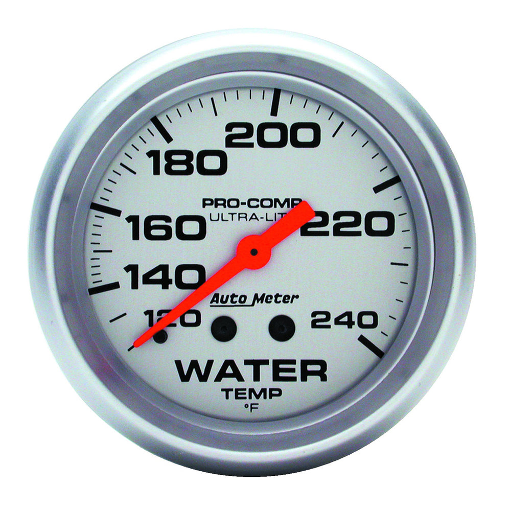 GAUGE, WATER TEMP, 2 5/8in, 120-240?F, MECHANICAL, 12FT., ULTRA-LITE