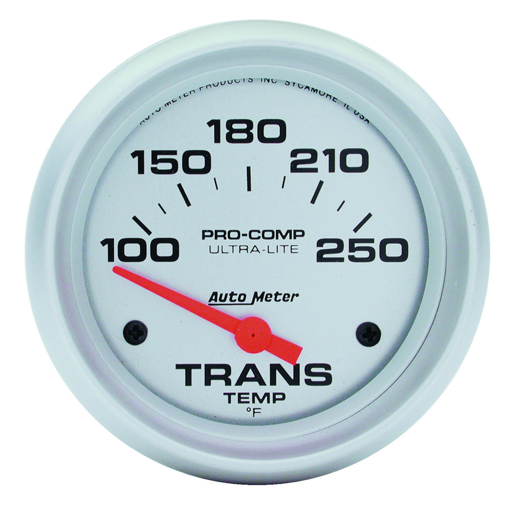 GAUGE, TRANSMISSION TEMP, 2 5/8in, 100-250?F, ELECTRIC, ULTRA-LITE