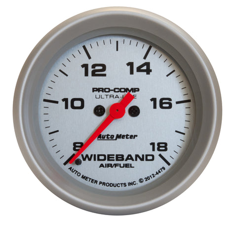 GAUGE, AIR/FUEL RATIO-WIDEBAND, ANALOG, 2 5/8in, 8:1-18:1, STEPPER MOTOR, UL