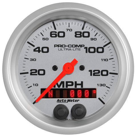 GAUGE, SPEEDOMETER, 3 3/8in, 140MPH, GPS, ULTRA-LITE