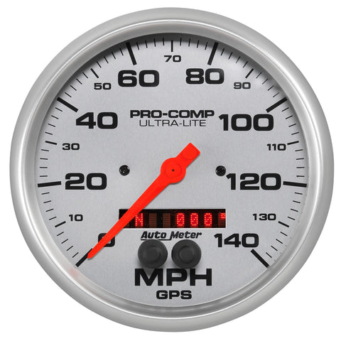 GAUGE, SPEEDOMETER, 5in, 140MPH, GPS, ULTRA-LITE
