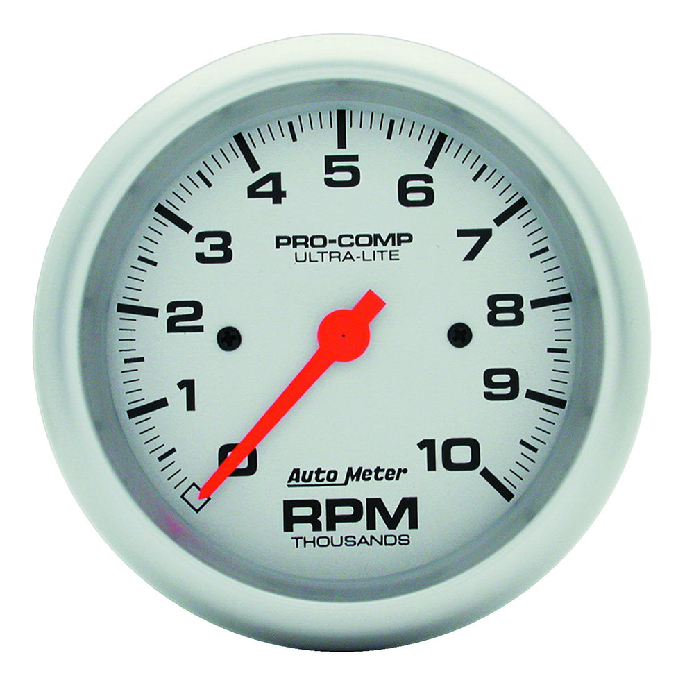 GAUGE, TACHOMETER, 3 3/8in, 10K RPM, IN-DASH, ULTRA-LITE