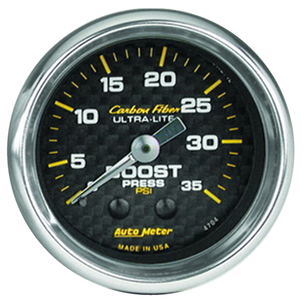 GAUGE, BOOST, 2 1/16in, 35PSI, MECHANICAL, CARBON FIBER