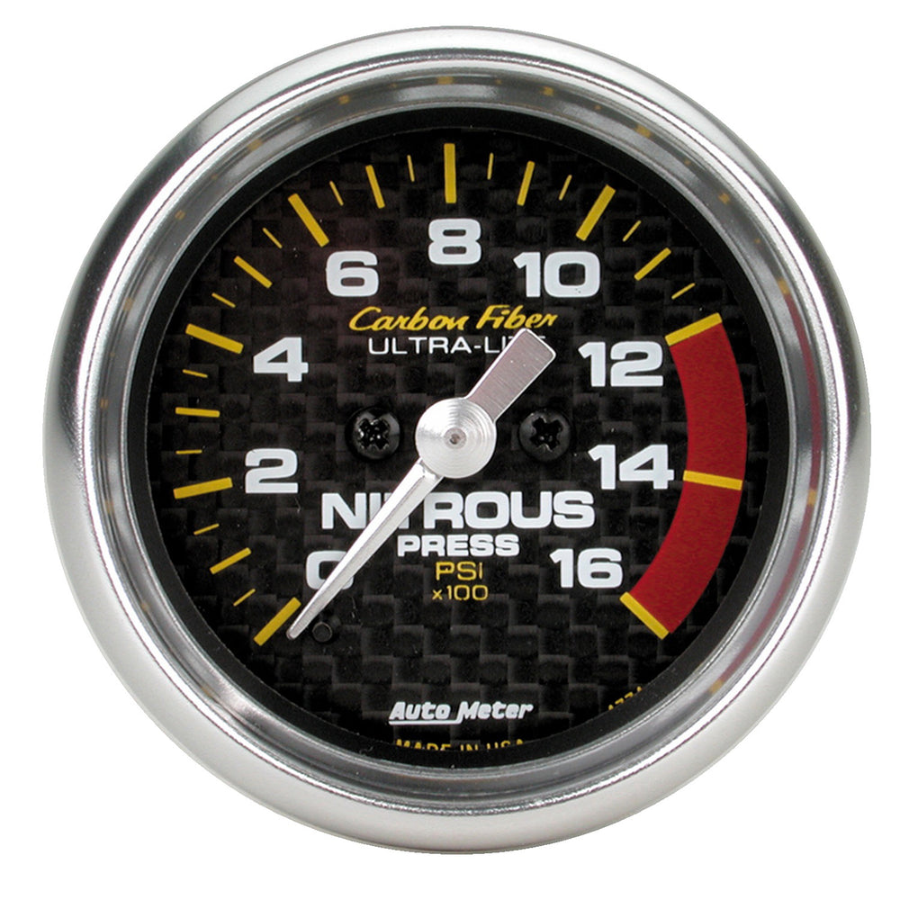 GAUGE, NITROUS PRESSURE, 2 1/16in, 1600PSI, DIGITAL STEPPER MOTOR, CARBON FIBER
