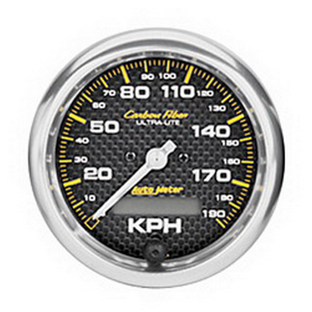 GAUGE, SPEEDOMETER, 3 3/8in, 190KM/H, ELEC. PROGRAMMABLE, CARBON FIBER