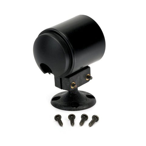 GAUGE MOUNT, ROLL POD, PEDESTAL, FITS 2 1/16in GAUGE, BLACK