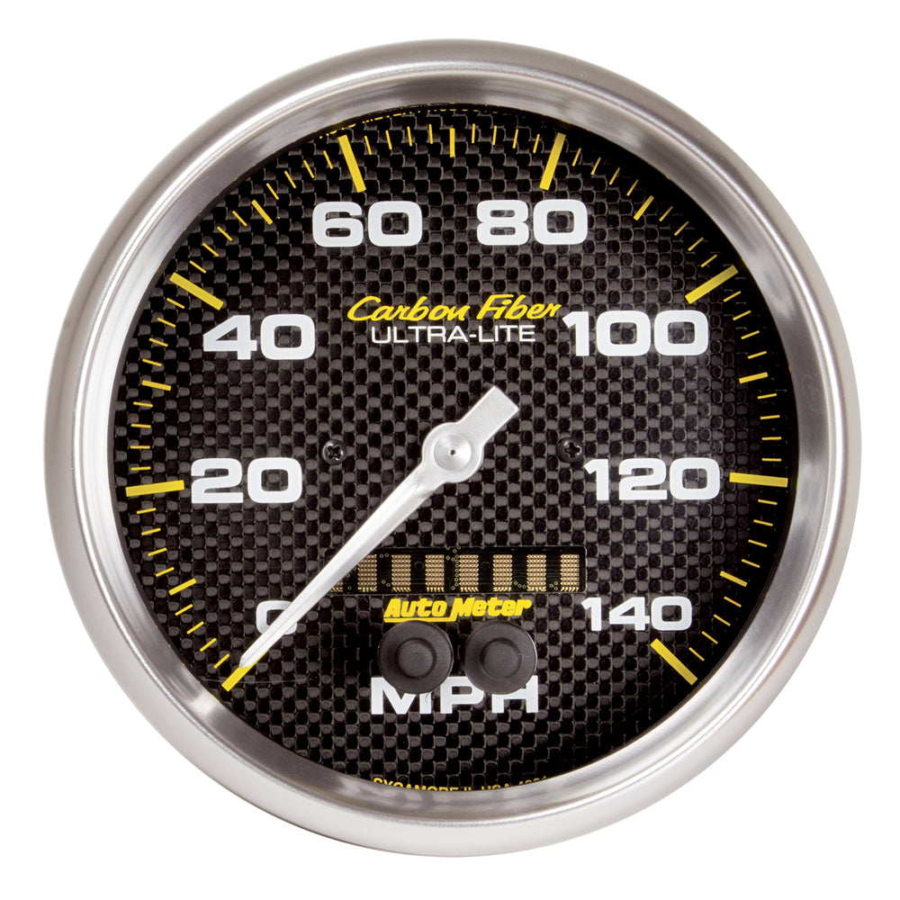 GAUGE, SPEEDOMETER, 5in, 140MPH, GPS, CARBON FIBER