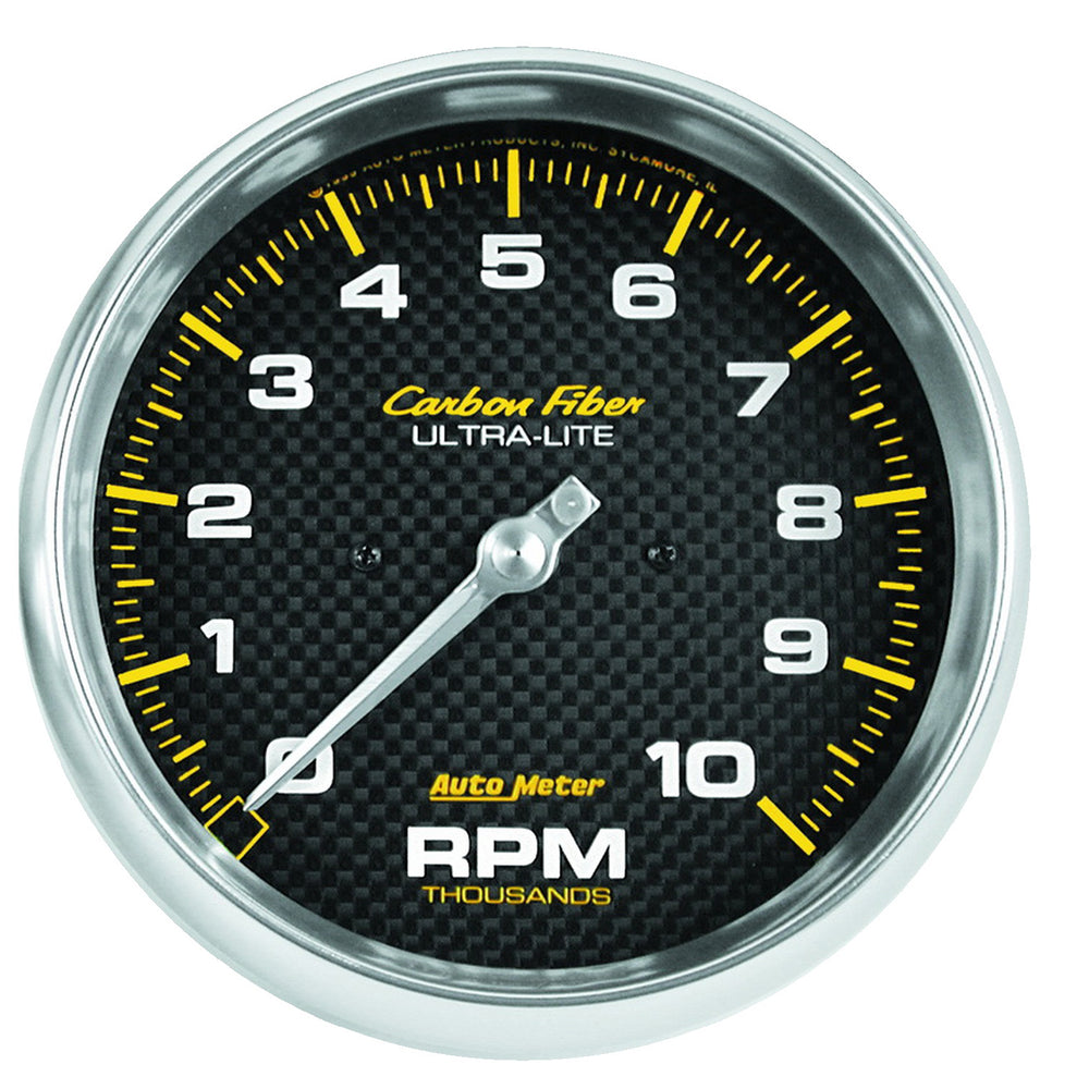 GAUGE, TACHOMETER, 5in, 10K RPM, IN-DASH, CARBON FIBER