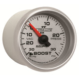 GAUGE, VAC/BOOST, 2 1/16in, 30INHG-30PSI, MECHANICAL, ULTRA-LITE II