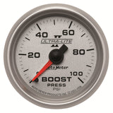 GAUGE, BOOST, 2 1/16in, 100PSI, MECHANICAL, ULTRA-LITE II