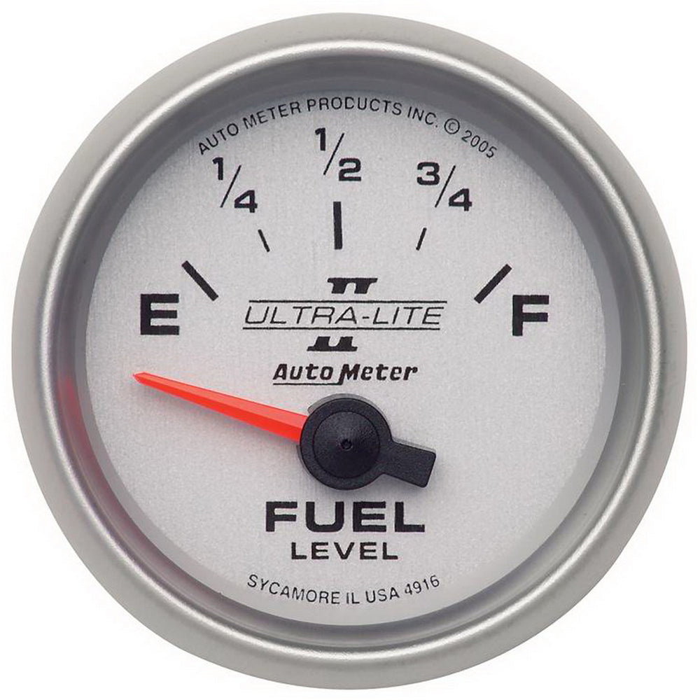 GAUGE, FUEL LEVEL, 2 1/16in, 240OE TO 33OF, ELEC, ULTRA-LITE II