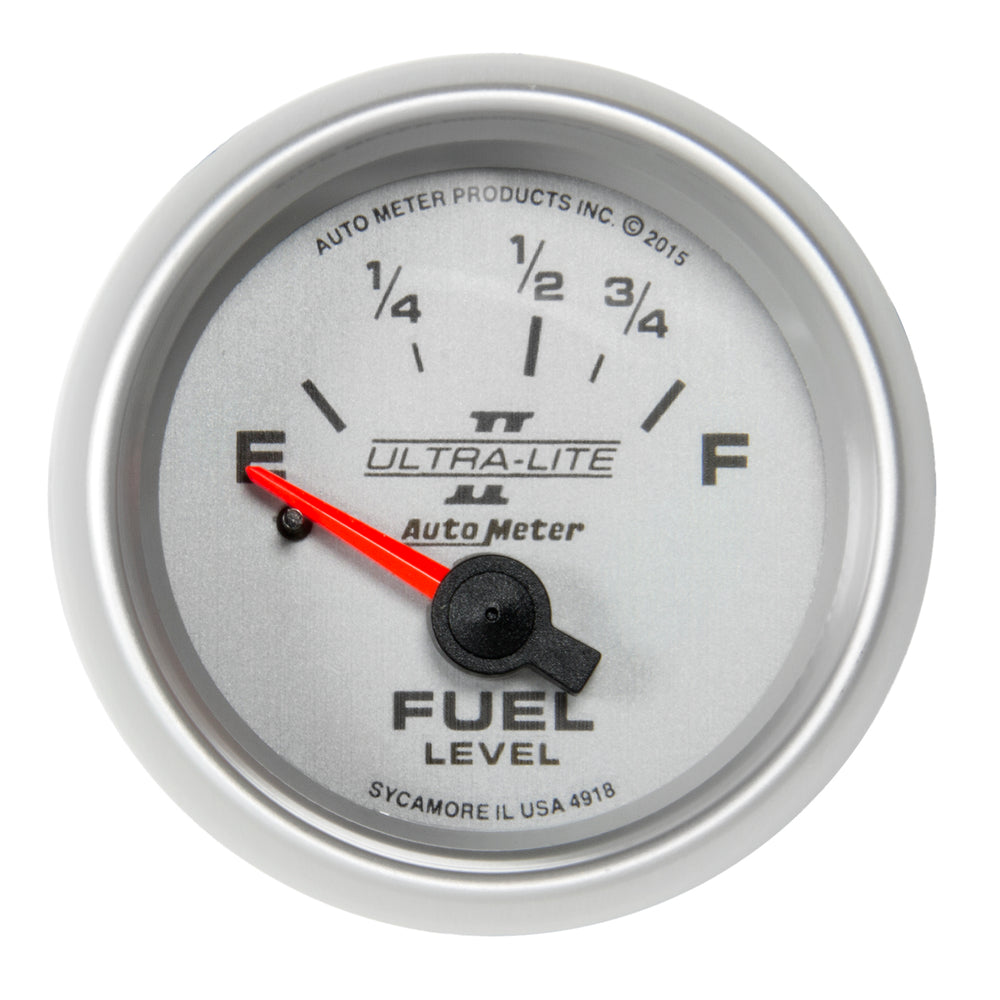 GAUGE, FUEL LEVEL, 2 1/16in, 16OE TO 158OF, ELEC, ULTRA-LITE II