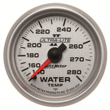 GAUGE, WATER TEMP, 2 1/16in, 140-280?F, MECHANICAL, ULTRA-LITE II