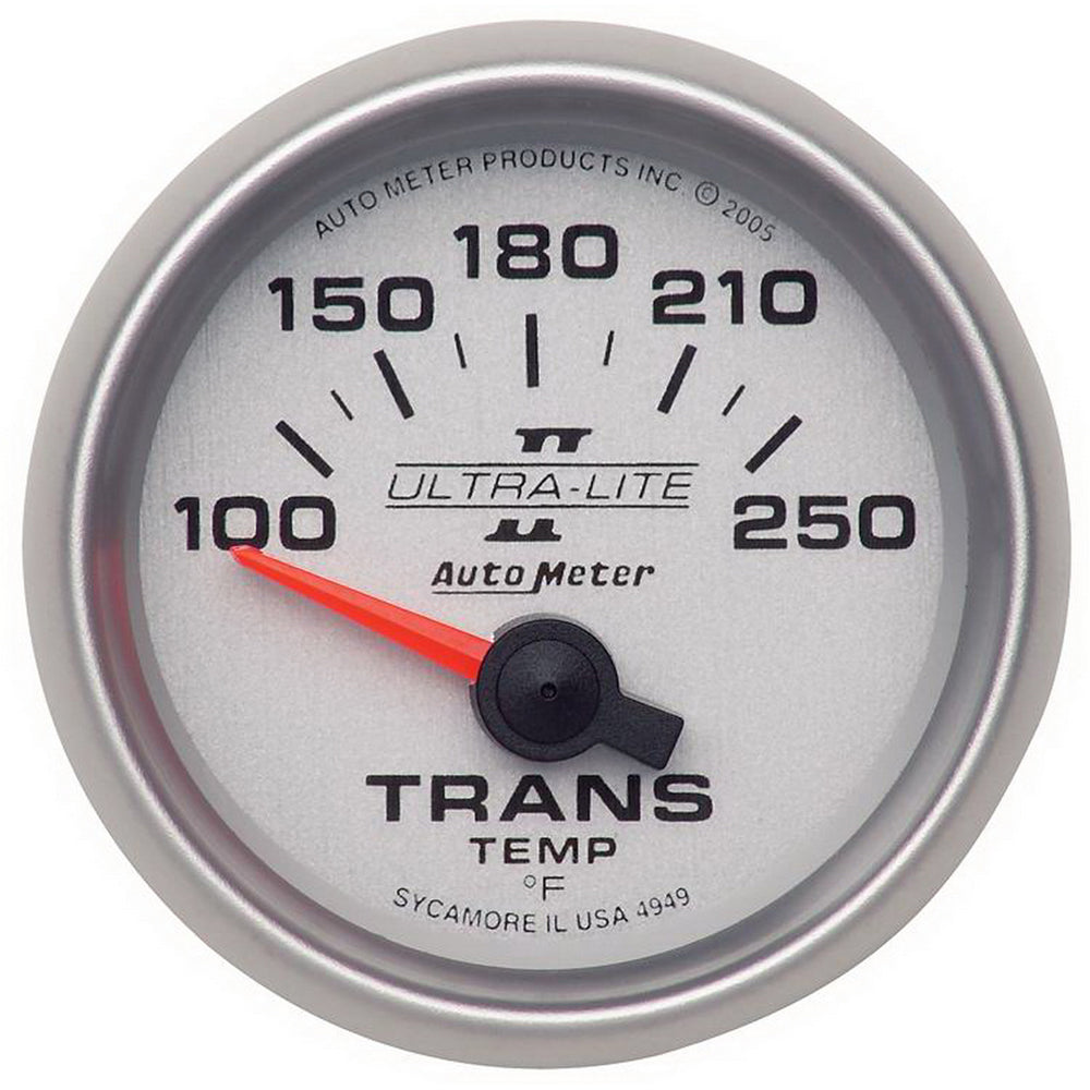 GAUGE, TRANSMISSION TEMP, 2 1/16in, 100-250?F, ELECTRIC, ULTRA-LITE II