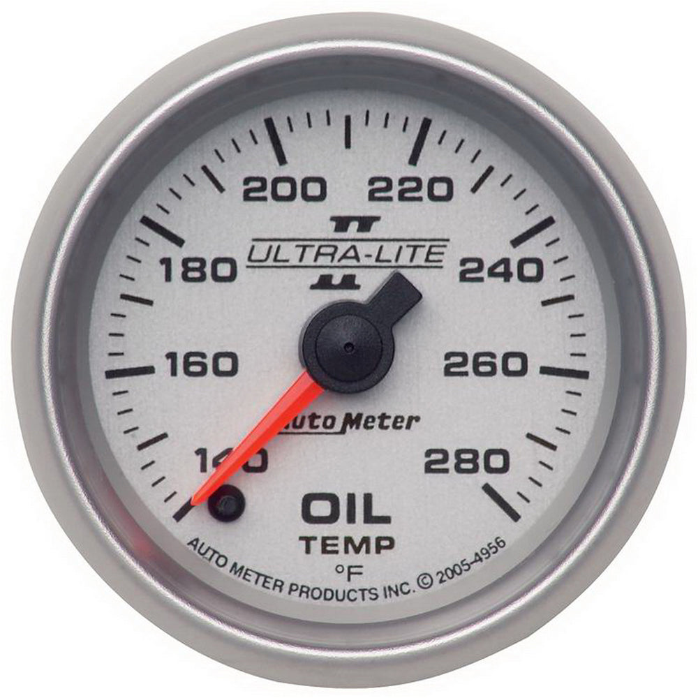GAUGE, OIL TEMP, 2 1/16in, 140-280?F, DIGITAL STEPPER MOTOR, ULTRA-LITE II