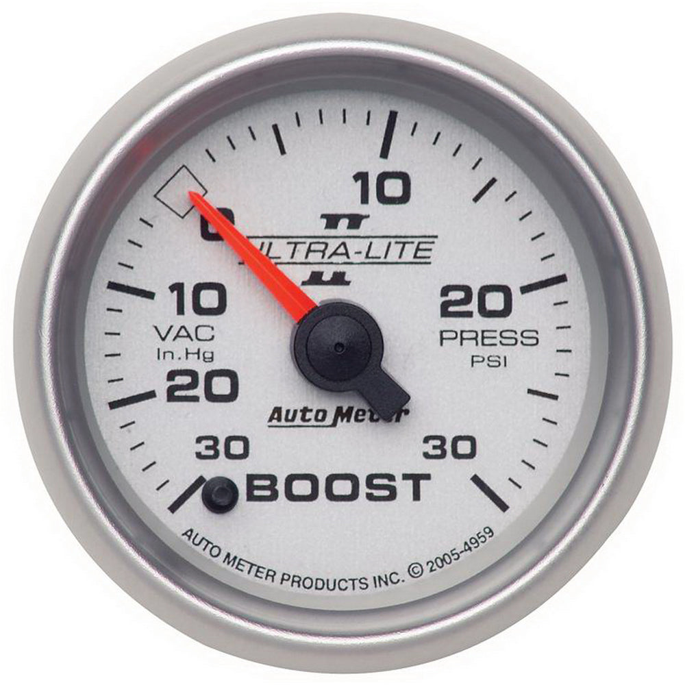 GAUGE, VAC/BOOST, 2 1/16in, 30INHG-30PSI, DIGITAL STEPPER MOTOR, ULTRA-LITE II
