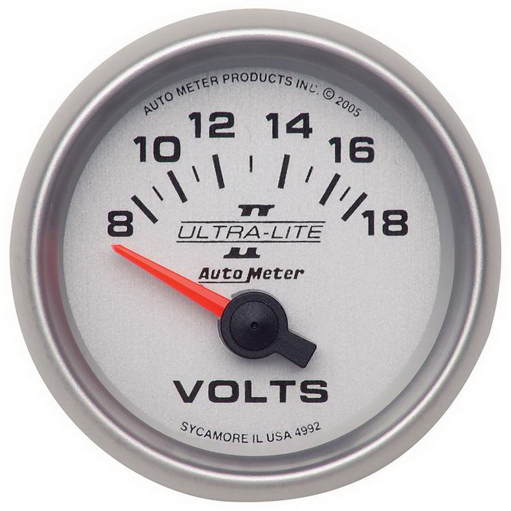 GAUGE, VOLTMETER, 2 1/16in, 18V, ELECTRIC, ULTRA-LITE II