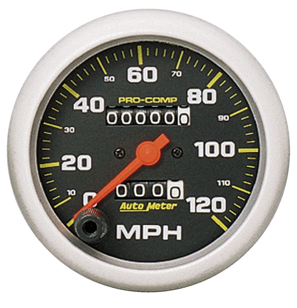 GAUGE, SPEEDOMETER, 3 3/8in, 120MPH, MECHANICAL, PRO-COMP