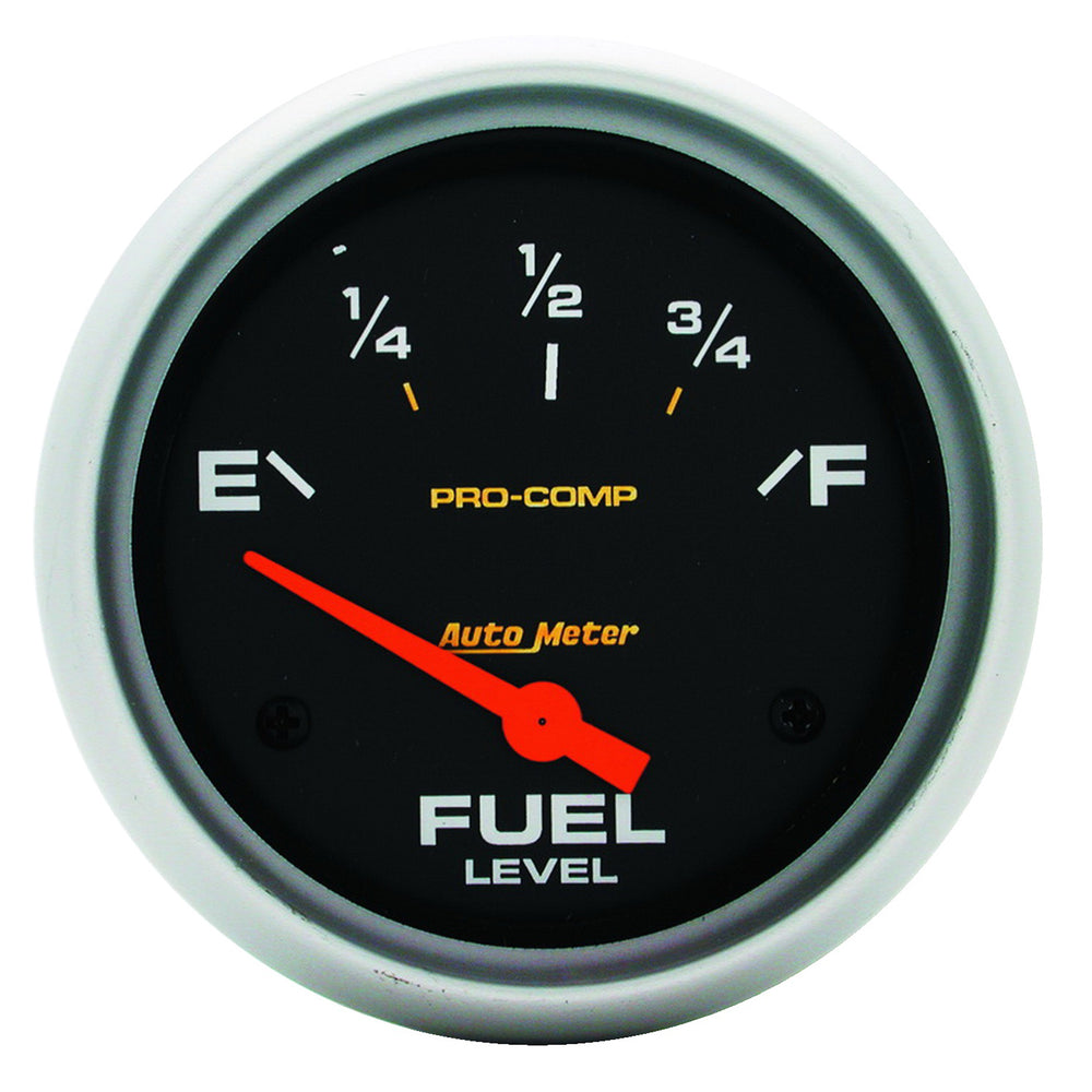GAUGE, FUEL LEVEL, 2 5/8in, 0OE TO 90OF, ELEC, PRO-COMP