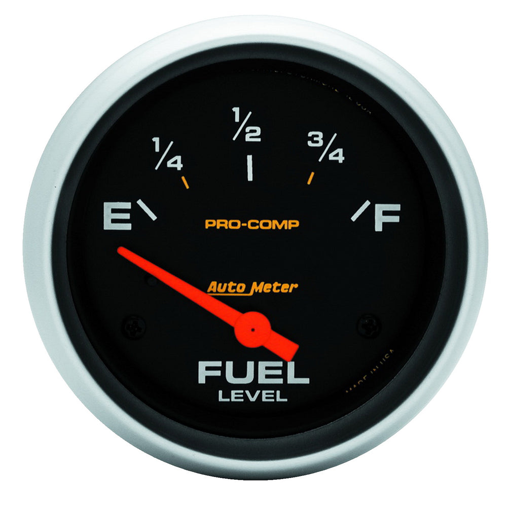 GAUGE, FUEL LEVEL, 2 5/8in, 240OE TO 33OF, ELEC, PRO-COMP