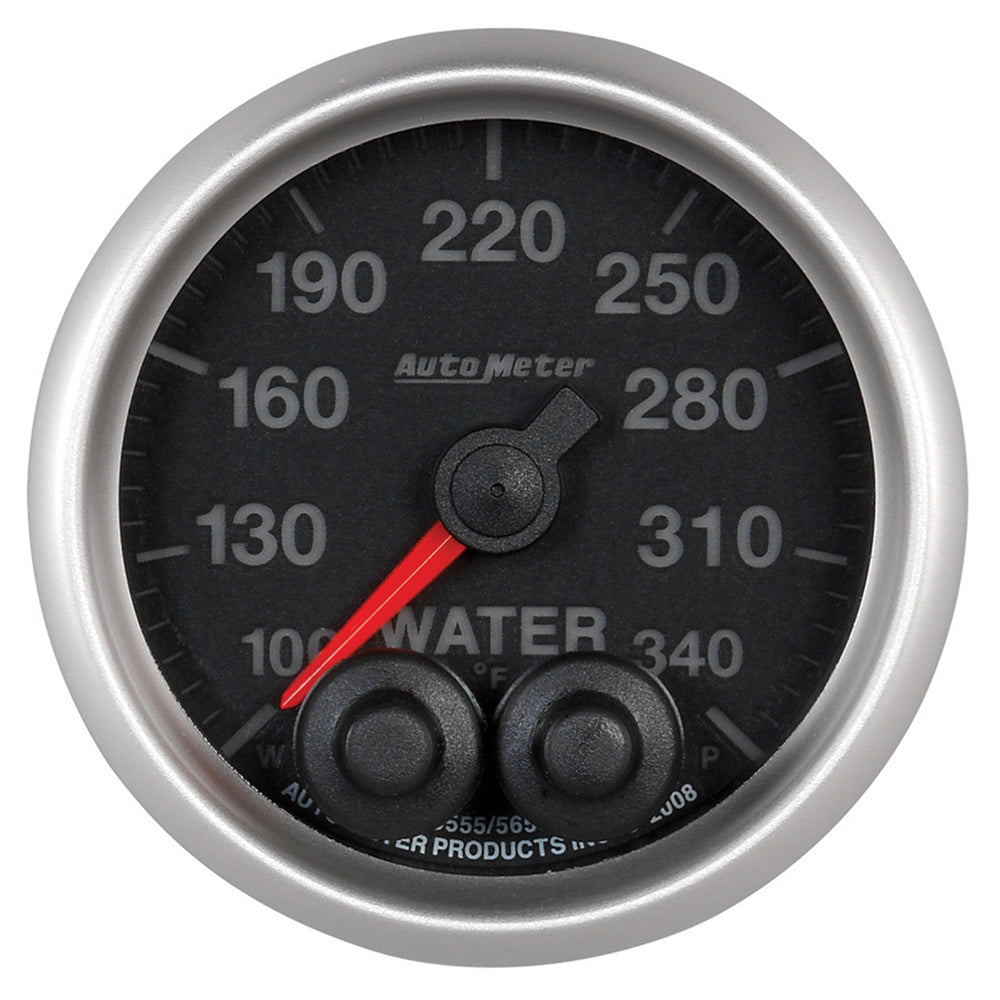 GAUGE, WATER TEMP, 2 1/16in, 340?F, STEPPER MOTOR W/PEAK & WARN, ELITE