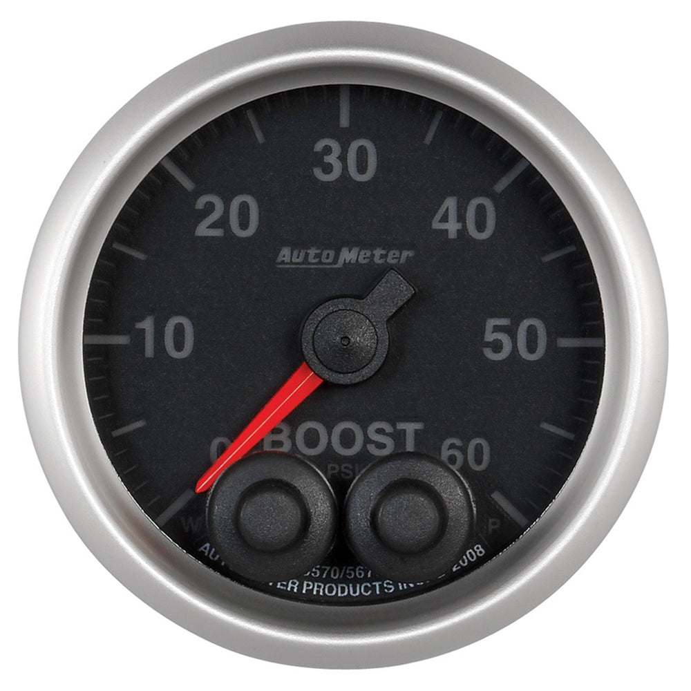GAUGE, BOOST, 2 1/16in, 60PSI, DIGITAL STEPPER MOTOR W/PEAK & WARN, ELITE