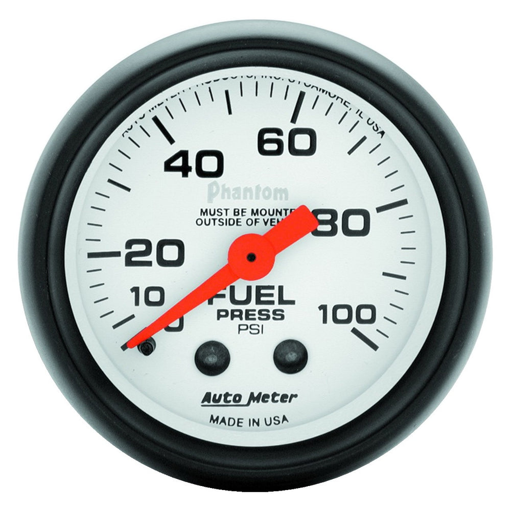 GAUGE, FUEL PRESSURE, 2 1/16in, 100PSI, MECHANICAL, PHANTOM