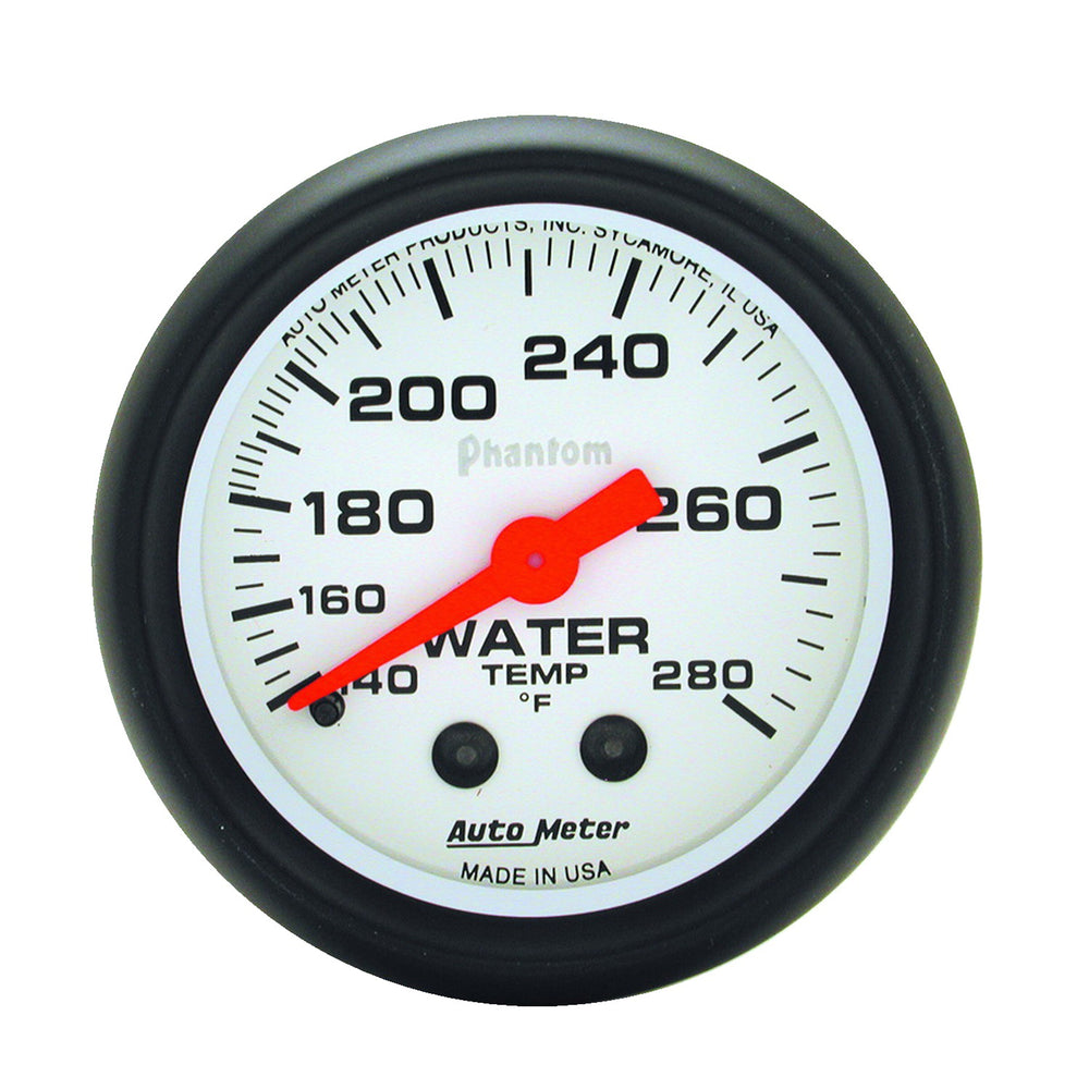 GAUGE, WATER TEMP, 2 1/16in, 140-280?F, MECHANICAL, PHANTOM