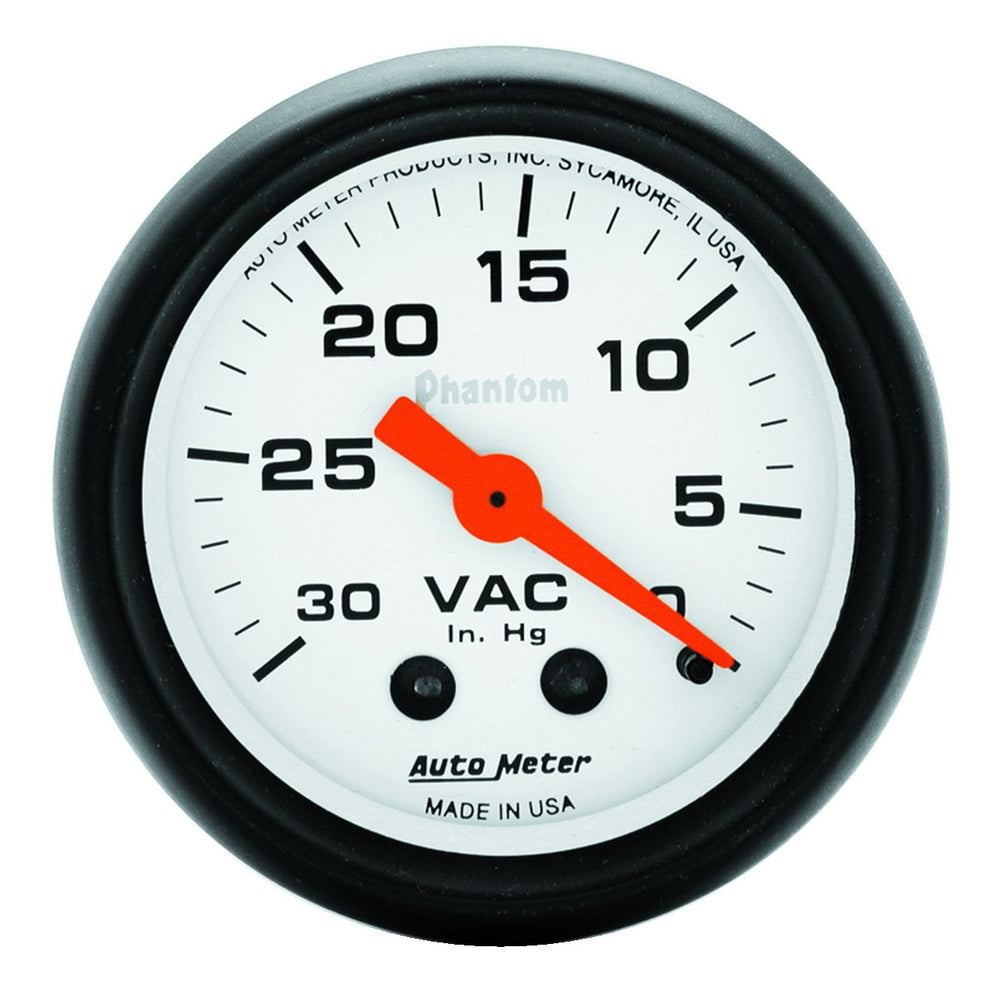 GAUGE, VACUUM, 2 1/16in, 30INHG, MECHANICAL, PHANTOM
