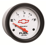 GAUGE, FUEL LEVEL, 2 5/8in, 0OE TO 90OF, ELEC, GM BOWTIE WHITE