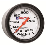 GAUGE, WATER TEMP, 2 5/8in, 120-240?F, MECHANICAL, GM PERF. WHITE