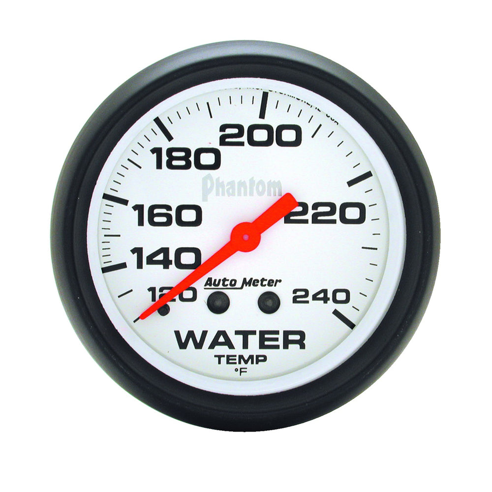 GAUGE, WATER TEMP, 2 5/8in, 120-240?F, MECHANICAL, PHANTOM